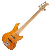 Cort GB75JJ-AM el.basszusgitár, 5 húros, JJ, aktív, borostyán + ajándék hangológép