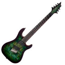Cort KX500MS-SDG el.gitár, Multi Scale, zöld + ajándék hangológép