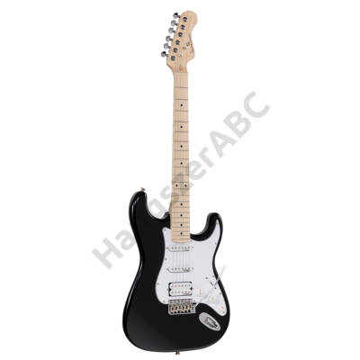 SOUNDSATION RIDER-PRO-MSH BK - Double cutaway electric guitar with 2 single coils + splittable humbucker and self-locking tuners (Wilkinson equipped, maple fretboard)