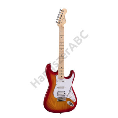 SOUNDSATION RIDER-PRO-MSH SSB - Double cutaway electric guitar with 2 single coils + splittable humbucker and self-locking tuners (Wilkinson equipped, maple fretboard)
