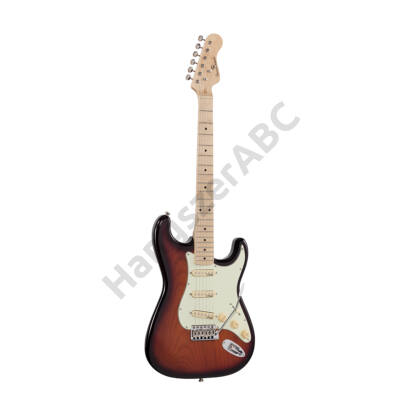 SOUNDSATION RIDER-RETRO-M TSB - Double cutaway electric guitar with 3 single coils and vintage tuners (Wilkinson equipped, maple fretboard)