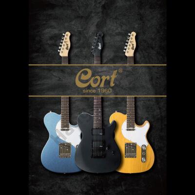 Cort M-JET-MBLK el.gitár, M-JET, fekete + ajándék hangológép