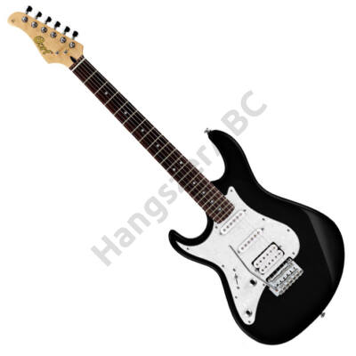 Cort G250LH-BK el.gitár, balkezes, fekete + ajándék hangológép