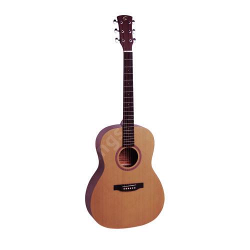 GRAND TETON-OOO-NT - OOO akusztikus gitár, nyitott pórusú szatén felülettel