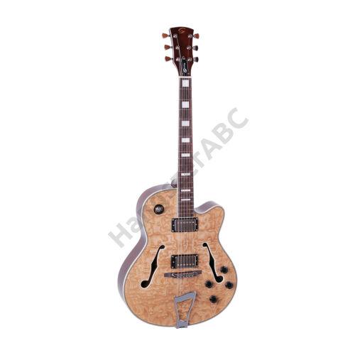 SOUNDSATION SL175X-N - Üreges testû Cutaway elektromos gitár 2 humbuckerral , stoptail híddal és tarka kõrisfa fedlappal