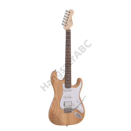 SOUNDSATION RIDER-PRO-RSH NT - Double cutaway electric guitar with 2 single coils + splittable humbucker and self-locking tuners (Wilkinson equipped, eco-rosewood fretboard)
