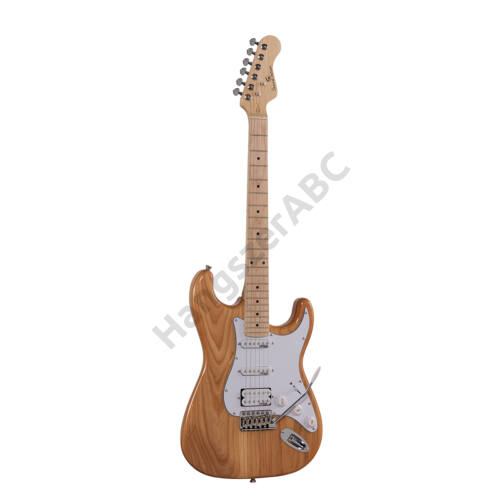 SOUNDSATION RIDER-PRO-MSH NT - Double cutaway electric guitar with 2 single coils + splittable humbucker and self-locking tuners (Wilkinson equipped, maple fretboard)