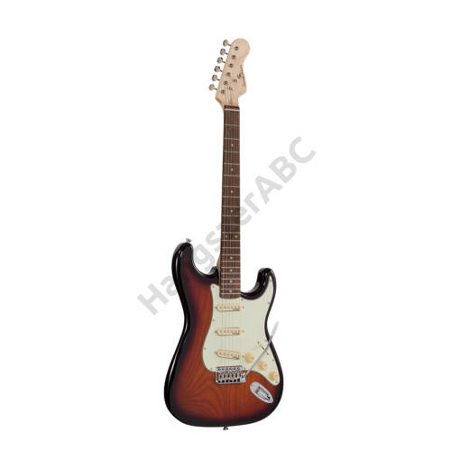 RIDER-RETRO-R TSB - Double cutaway elektromos gitár 3 single coil pickuppel és vintage kulcsokkal (Wilkinson mechanika, eco-rózsafa fogólap)