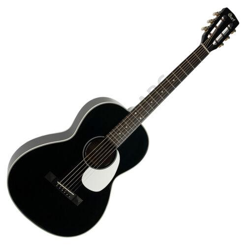 Cort akusztikus gitár elektronikával, Parlor, fekete + ajándék hangológép