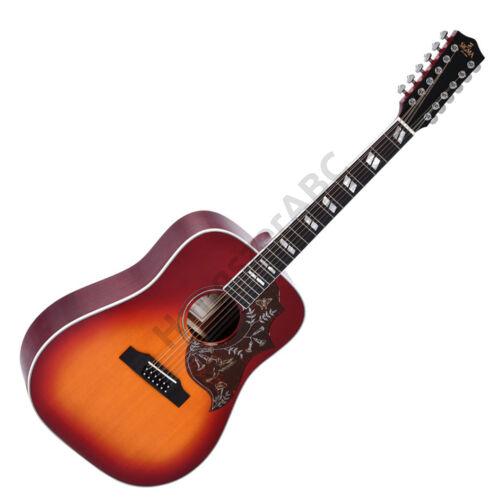 Sigma 12 húros akusztikus gitár elektronikával, cherry sunburst