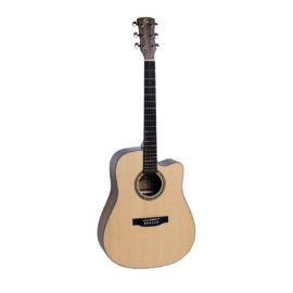 OLYMPIC-DNCE-NT - Dreadnought Cutaway akusztikus gitár nyílt porusú szatén felülettel Fishman előerősítővel
