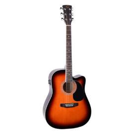 YELLOWSTONE-DNCE-SB - Dreadnought cutaway elektroakusztikus gitár fernyő fedlappal