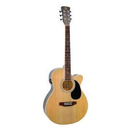 YELLOWSTONE-MJCE-NT - Mini jumbo cutaway elektroakusztikus gitár fenyő fedlappal
