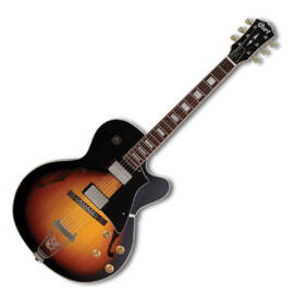 Cort Yorktown-TAB with bag félakusztikus gitár tokkal, tobacco sunburst