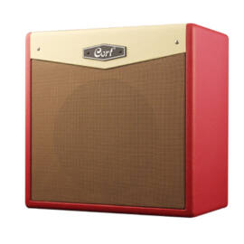 Cort CM30R-DR gitárerősítő zengetővel, 30 Watt, Bluetooth, piros