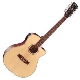 Cort GA-MEDX-12-OP akusztikus gitár elektronikával,12 húros, natúr + Választható ajándék