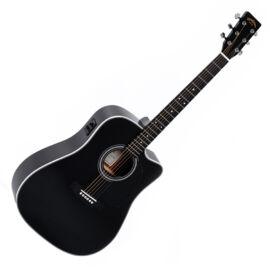 Sigma DMC-1STE-BK Plus akusztikus gitár elektronikával, fekete