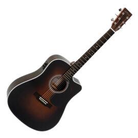 Sigma DTC-1STE-SB Plus akusztikus gitár elektronikával, sunburst