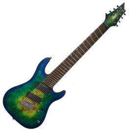 Cort KX508MS-MBB el.gitár, Multi Scale, kék burst