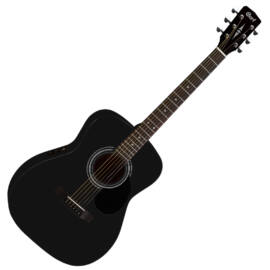 Cort AF510E-BKS akusztikus folkgitár EQ-val, fekete szatén