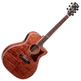 Cort GA5F-FMH-OP akusztikus gitár Fishman EQ, mahagóni, natúr
