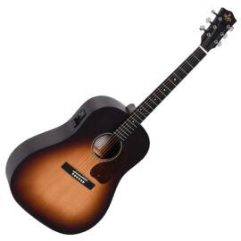 Sigma JM-SGE Plus akusztikus gitár elektronikával, sunburst