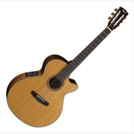 Cort CEC-7-NAT klasszikus gitár elektronikával, natúr + Választható ajándék