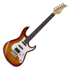 Cort G250-TAB el.gitár, hársfa test, Bluebucker PU, tob.sunburst