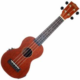 Mahalo Electric-Acoustic Soprano Ukulele Trans Brown
