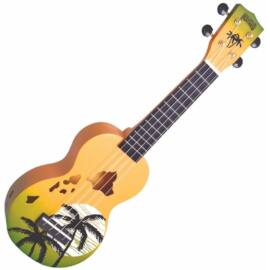 Mahalo Soprano Ukulele Hawaii Green Burst