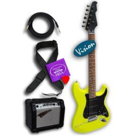 """Vision ST-5 Y Neon """"Black Head"""" elektromos gitár szett 4"""