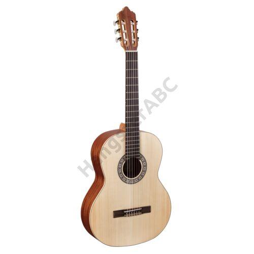 JULIA 44SOP - Tömör lucfenyő fedlapos klasszikus gitár nyílt porusú szatén felülettel