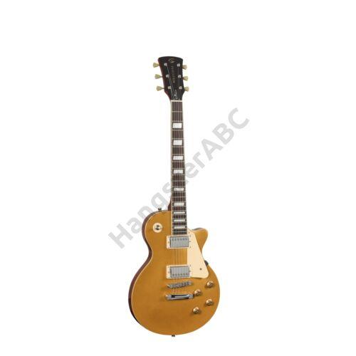 MILESTONE-PRO GT - Ívelt fedlapú cutaway elektromos gitár 2 humbucker pickuppel és ragasztott nyakkal