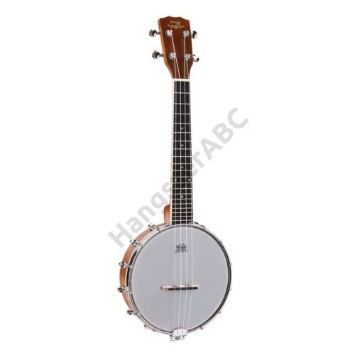 SUBJ-20 - Ukulele-banjo sapele mahagóni testtel és REMO bőrrel