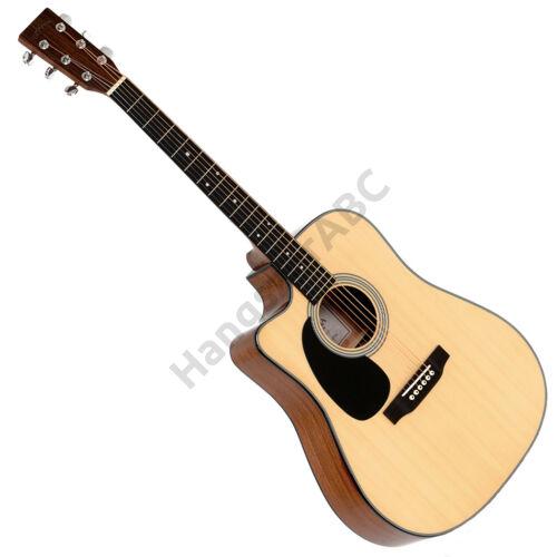 Sigma akusztikus gitár elektronikával, natúr