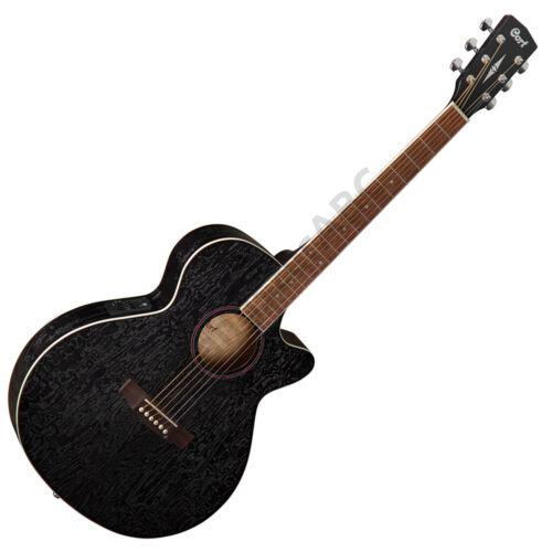 Cort SFX-AB-OPBK akusztikus gitár EQ-val, Ash Burl, fekete