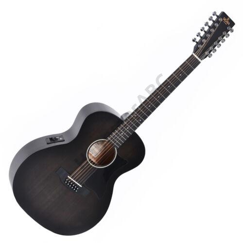 Sigma GM12E-BKB Plus 12 húros akusztikus gitár elektronikával, fekete burst