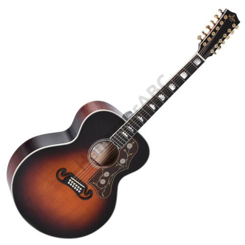 Sigma GJA12-SG200 12 húros akusztikus gitár elektronikával, dark sunburst