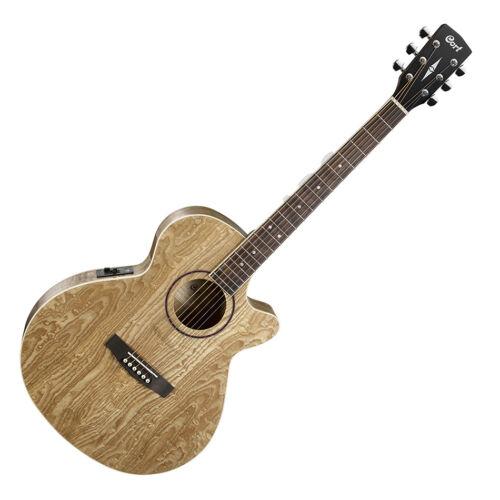 Cort SFX-AB-NAT akusztikus gitár EQ-val, Ash Burl, natúr